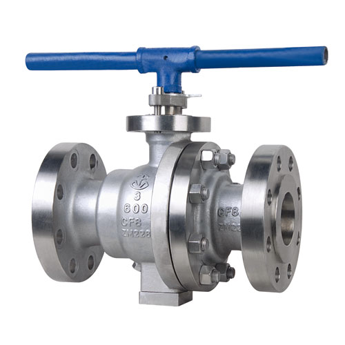 Duplex Steel API Two Pieces Trunnion Mounted Flanged Ball Valve