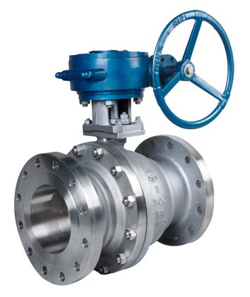 Duplex Steel API Worm Gear Flanged Floating Ball Valve