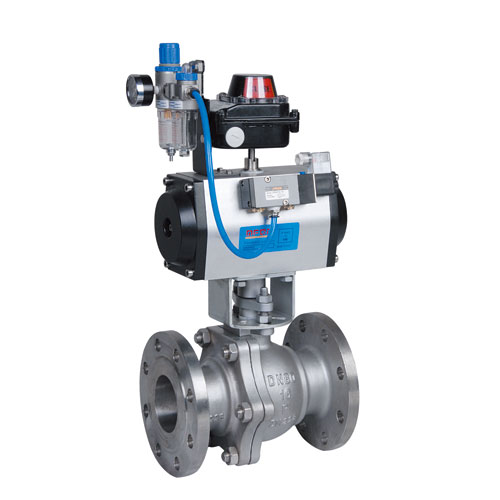 Duplex Steel Pneumatic Two Piece Flanged Floating Ball Valve
